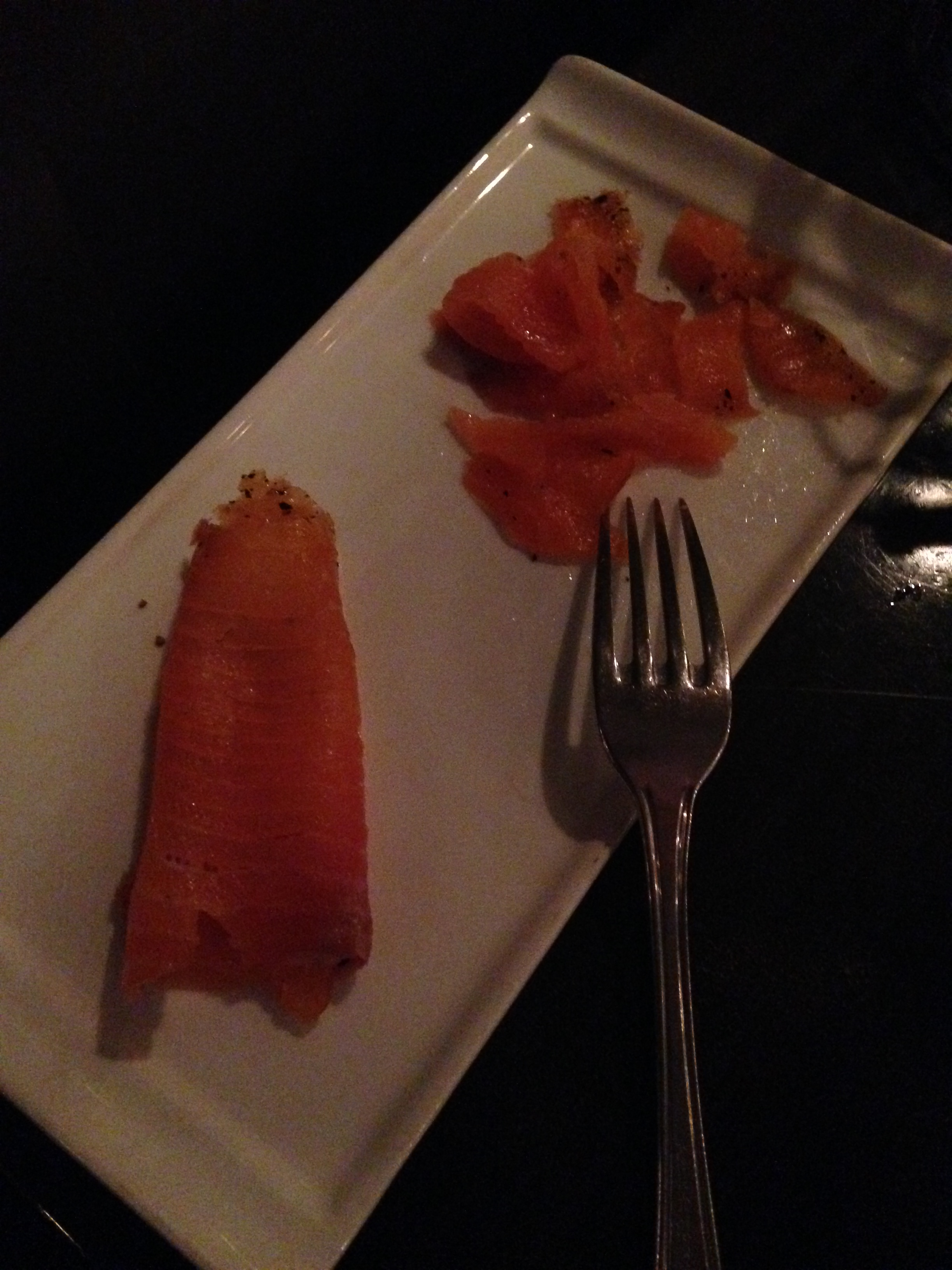 They were gracious to serve the salmon from Rich's salad on the side for me to enjoy instead!