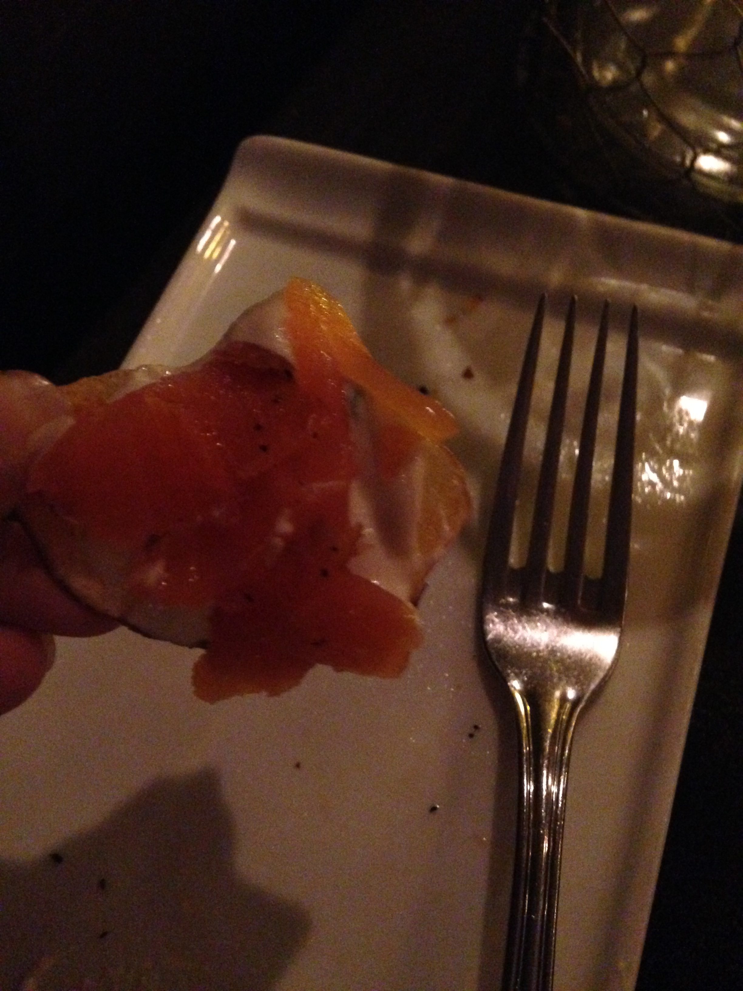 The salmon was especially tasty with the appetizer!