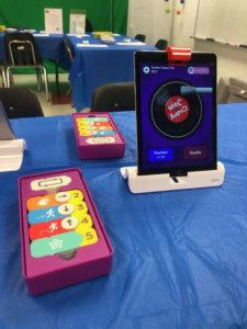 Coding Jam Osmo kit with iPad on display